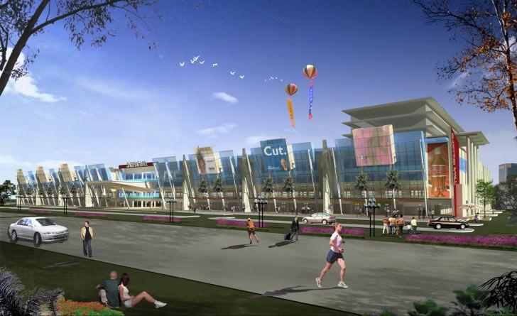 shopping mall modern minimalist future creative