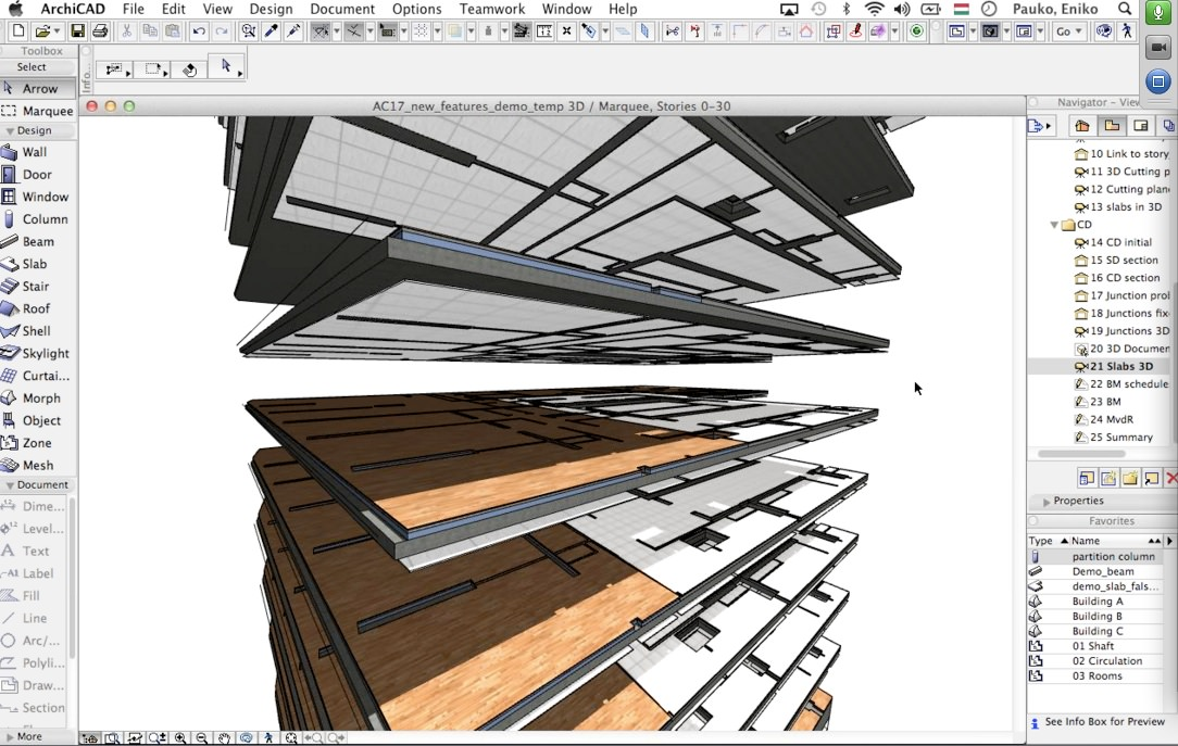 Archicad educational software program.