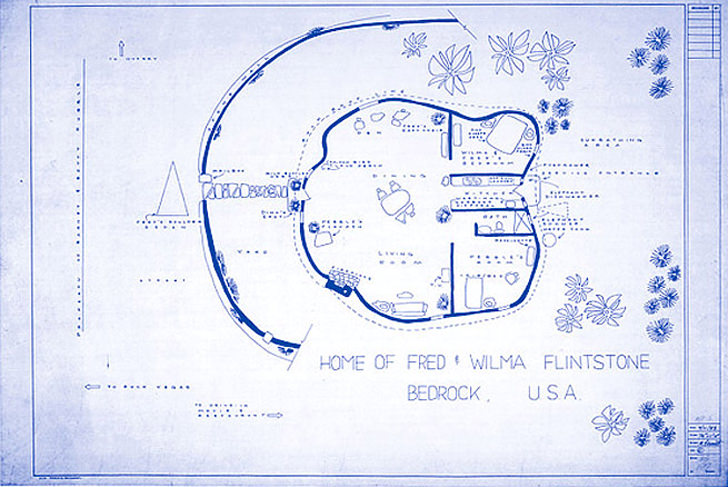 flintstones house blueprint