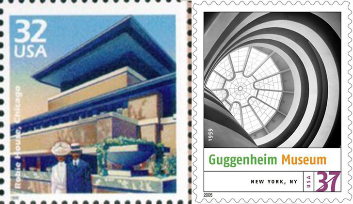 Frank Lloyd Wright Stamps