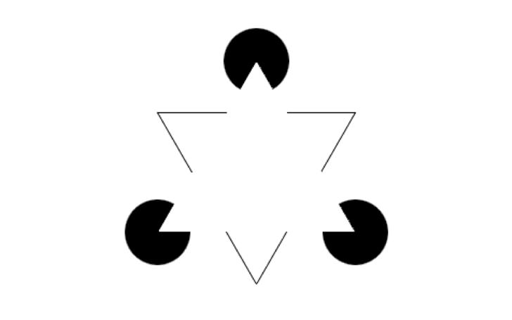 kanizsa triangle Architecture and Optical Illusion