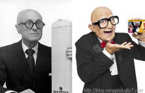 Philips Johnson Mr.Six Famous Architects Separated at Birth