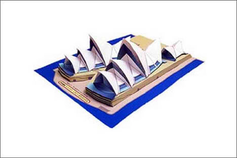 Canon 3D Papercraft Architecture sydney opera house