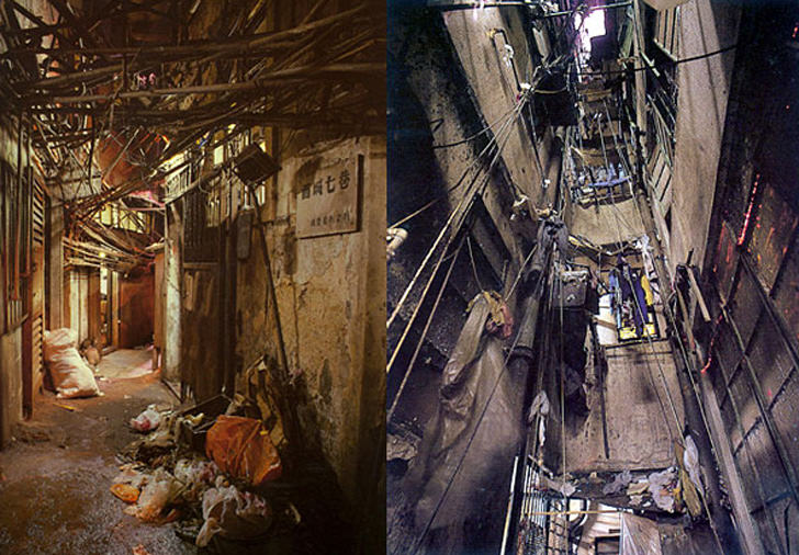 kowloon walled city rubbish alley