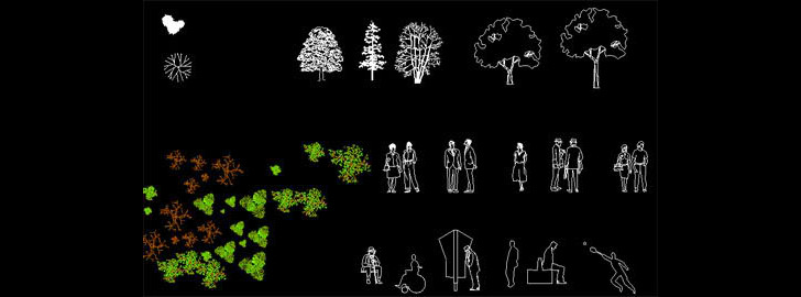 Download FREE AutoCAD Architecture Blocks / Library - Furniture, People, Trees And Vehicle