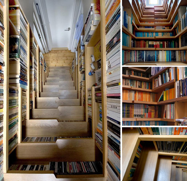 bookcase stairs london
