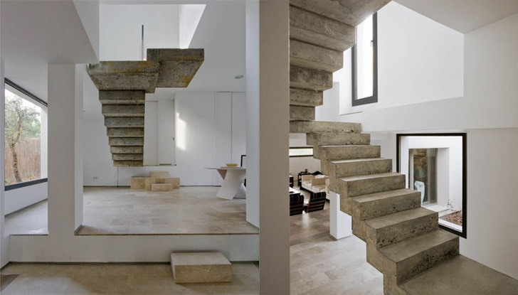 floating concrete architecture spain - Stairs Design Ideas