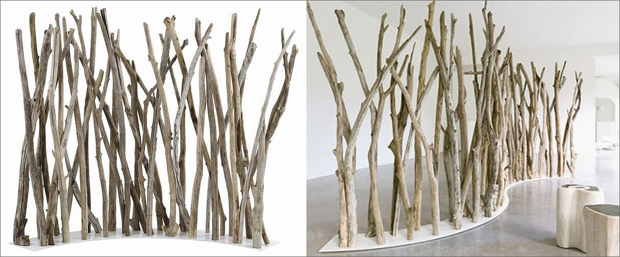 room divider office. Natural Tree Branch Divider Room Office