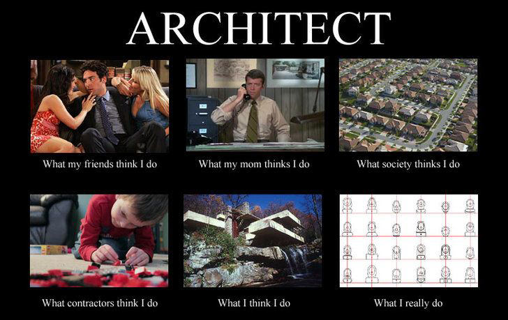 what people think i do architect