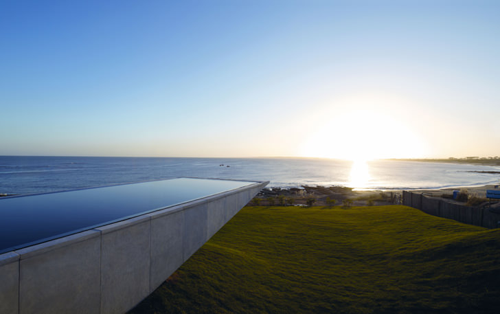 Playa Vik Cantilevered Pool negative edge zero edge infinity pool disappearing edge vanishing edge pool