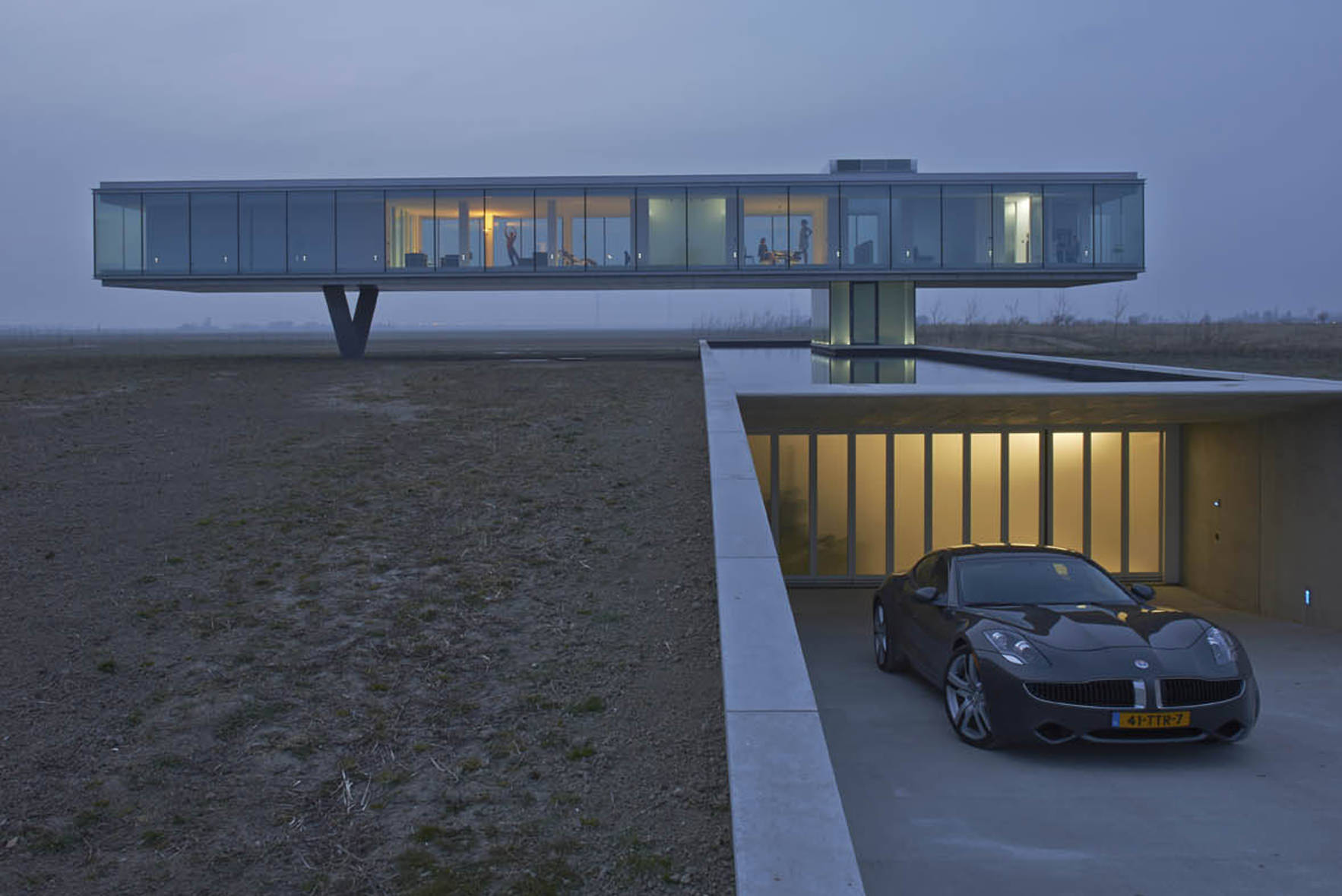 Villa kogelhof energy saving and geothermal storage for Garage energy automobiles