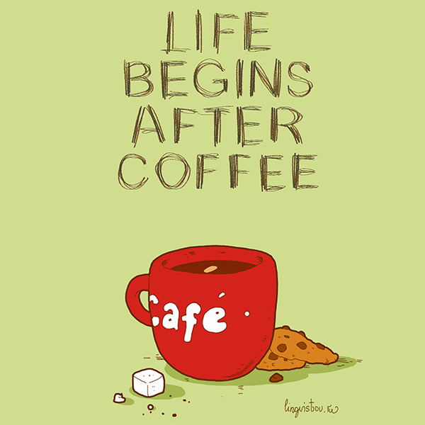 Life begins after coffee Funny Doodles on Coffee Sleeping Working Life instagram pinterest twitter facebook architecture architect