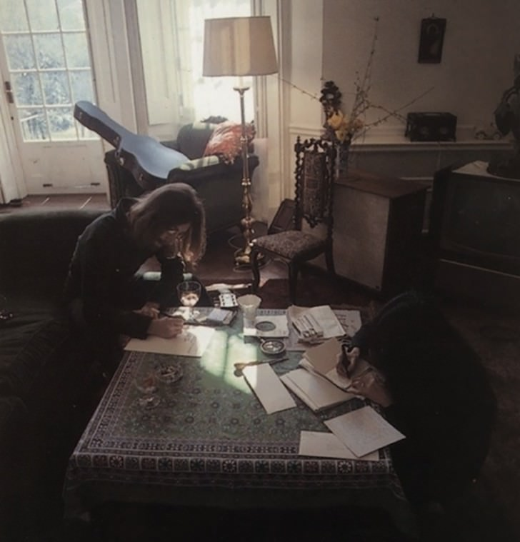 john lennon yoko ono Work Spaces Of Creative And Successful People