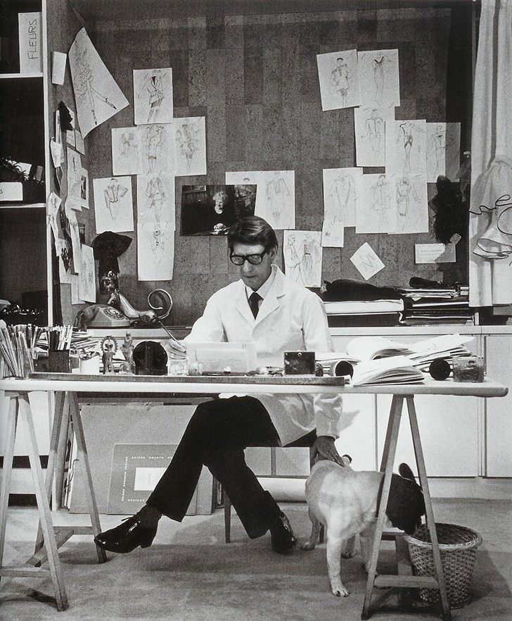 yves saint-laurent office table Work Spaces Of Creative And Successful People