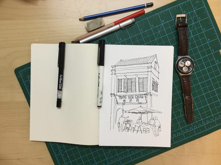 Petaling Street Sketches Malaysia