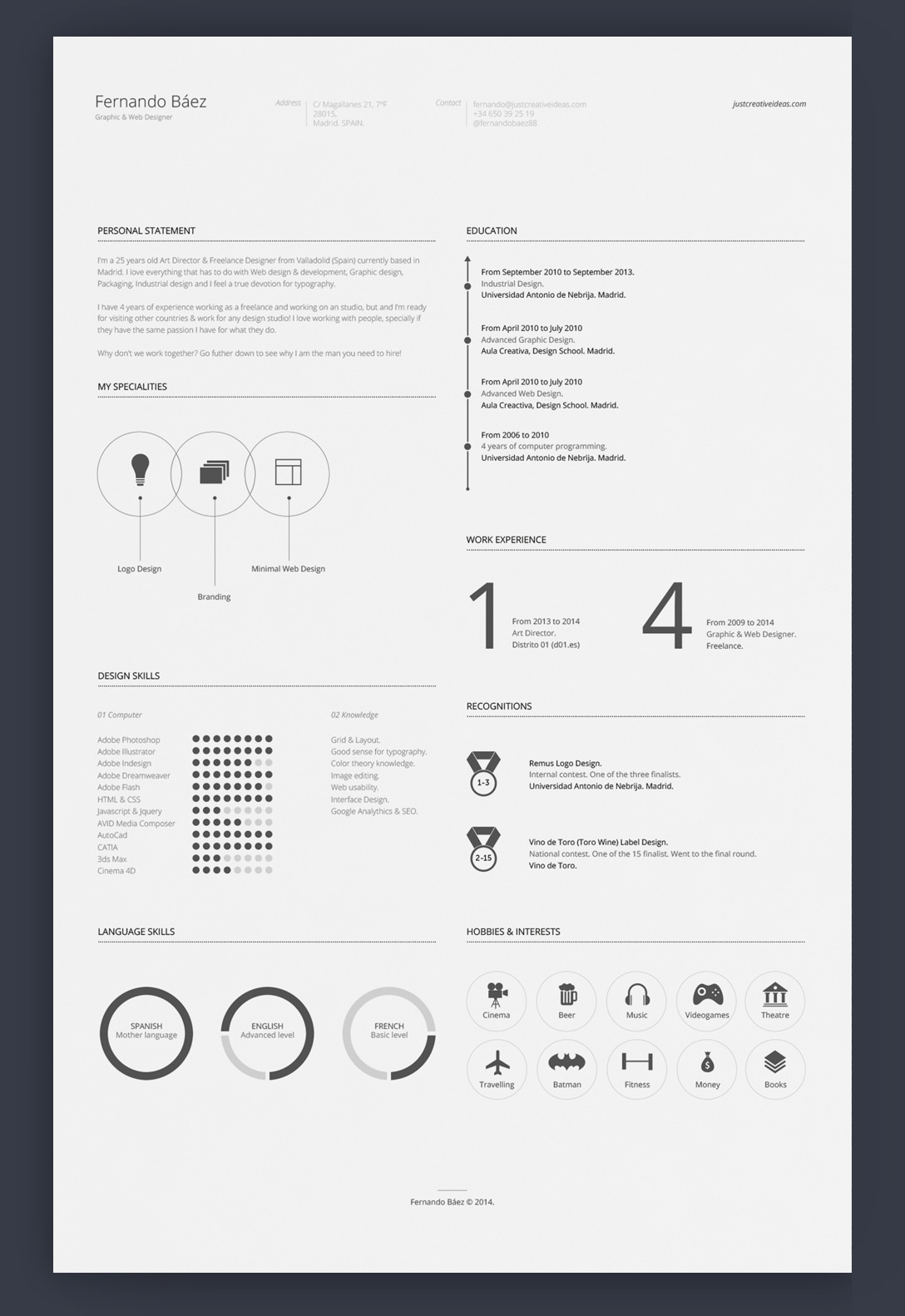 7 Free Editable Minimalist Resume CV In Adobe Illustrator And Photoshop  Format  Resume Or Cv