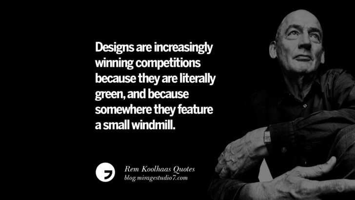 Designs are increasingly winning competitions because they are literally green, and because somewhere they feature a small windmill.